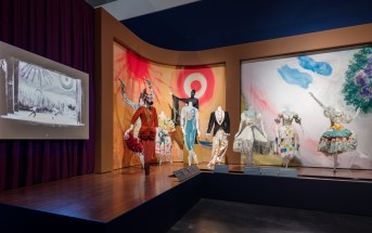 "Installation view: ""Chagall: Fantasies for the Stage,: from ""Aleko,"""