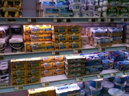 Yogurt Aisle in Paris