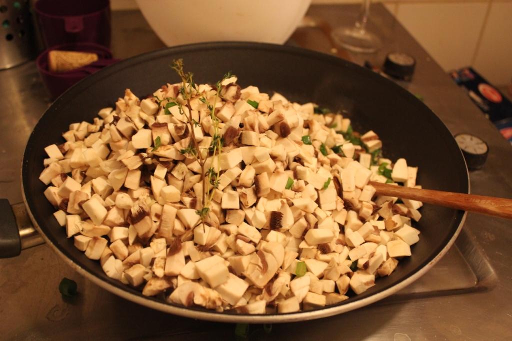 cooking mushrooms- mushroom galettes