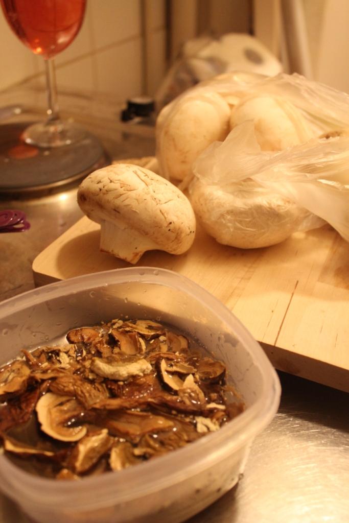 dried mushrooms - mushroom galettes