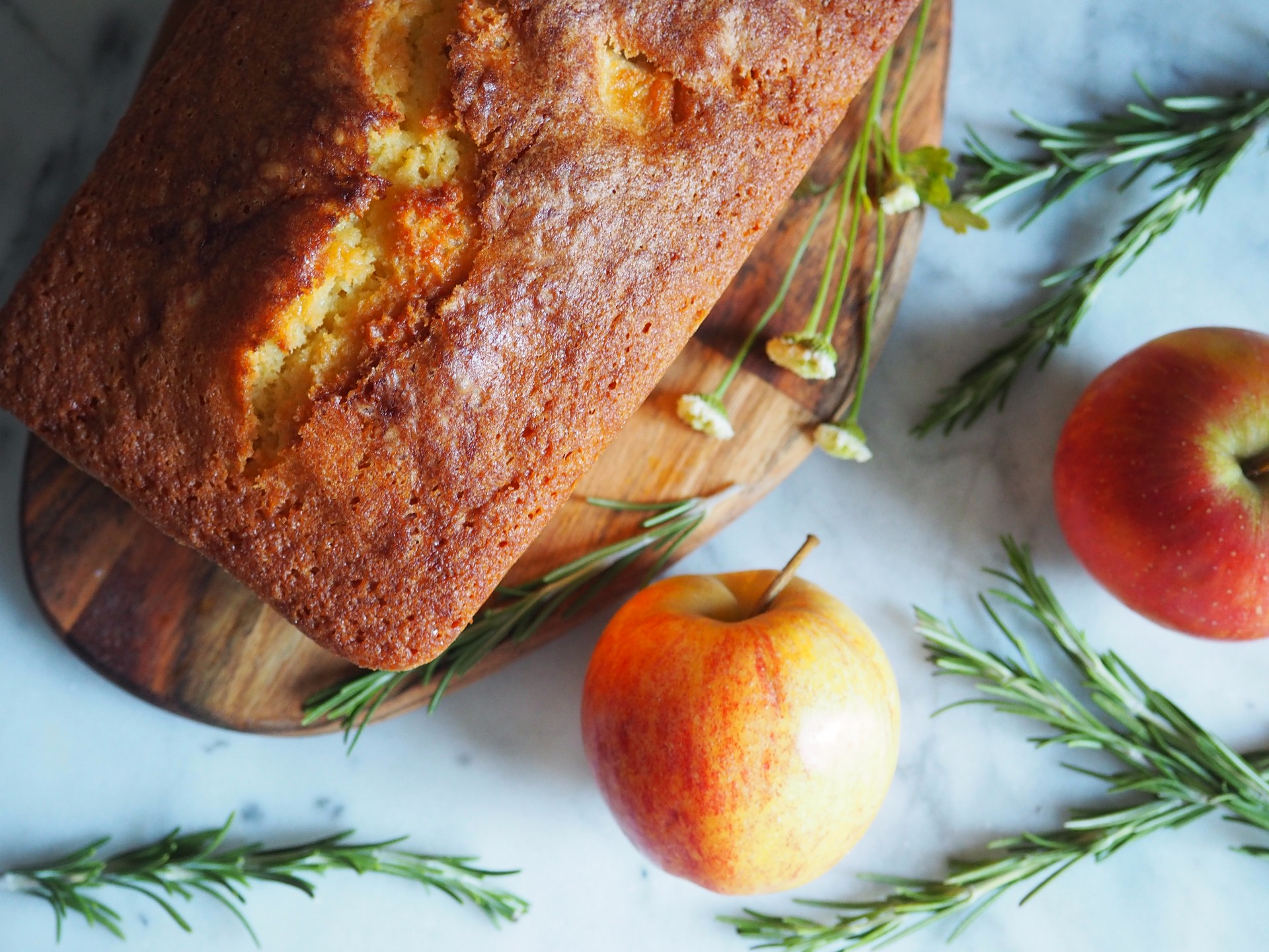 Apple Rosemary Loaf Cake