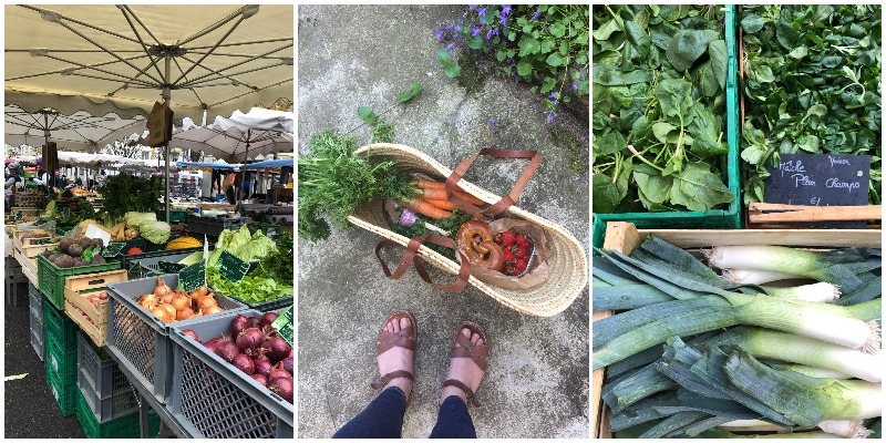 Compilation of pictures of the farmers markets in Strasbourg