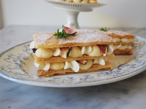Mille Feuille with layers of puff pastry and pastry cream
