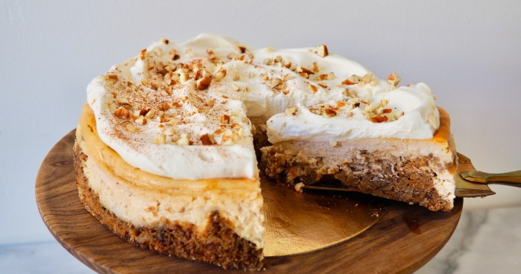 Carrot Cake Cinnamon Cheesecake