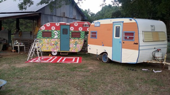 Vintage Trailers Painted by Artist Angela Boone Leachman