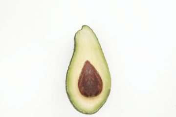 An avocado half