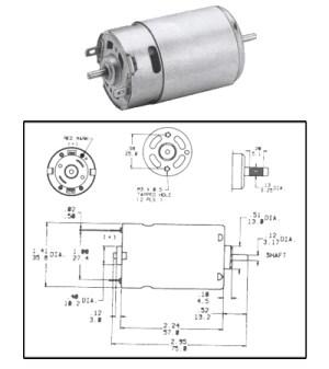 DC Motors  Gearmotors : CMO1200 12 Volt PMDC Motor Compact Reversible