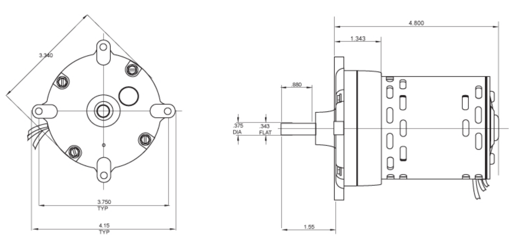 Ac Induction Motors Gearmotors Em3r