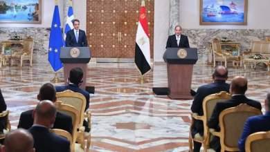 صورة كلمة الرئيس عبد الفتاح السيسي خلال المؤتمر الصحفي المشترك مع كيرياكوس ميتسوتاكيس رئيس وزراء اليونان