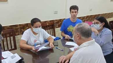 صورة تلقي الموظفين والمواطنين للقاح المضاد لفيروس كورونا بمحافظة الجيزة