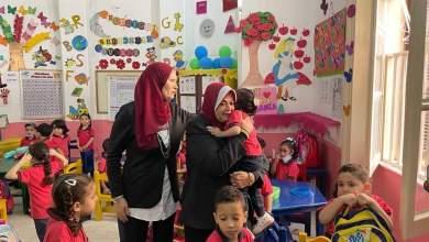 صورة لليوم الثاني علي التوالي مدارس امون الزمالك تستقبل طلابها وسط اجراءات احترازية