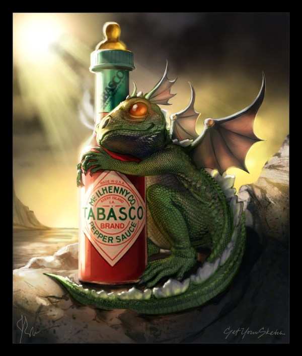 Baby Dragon with Tabasco