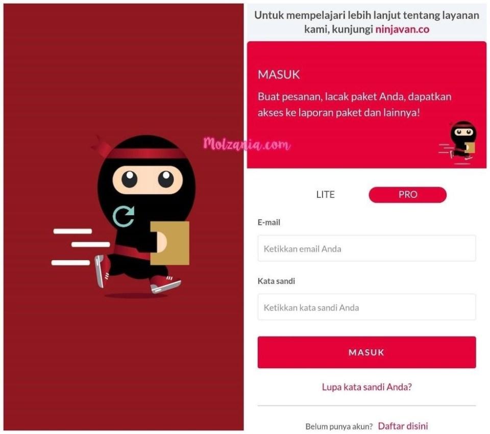 aplikasi smartphone ninja xpress
