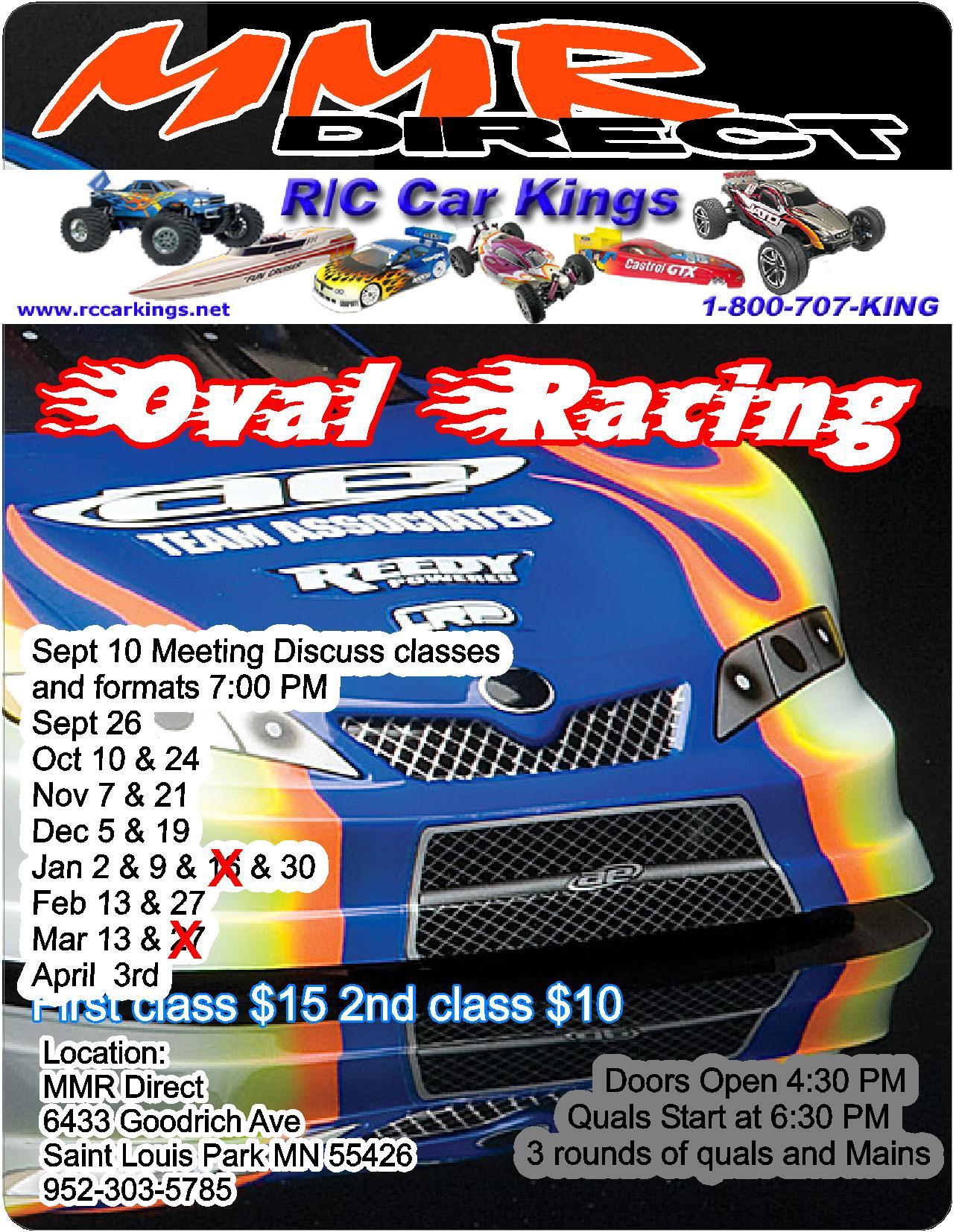 RC Car Kings Carpet Oval Program