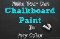 Make Your Own Chalkboard Paint In Any Color - Mom 4 Real