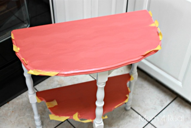 Paint a Chevron Side Table Step 3