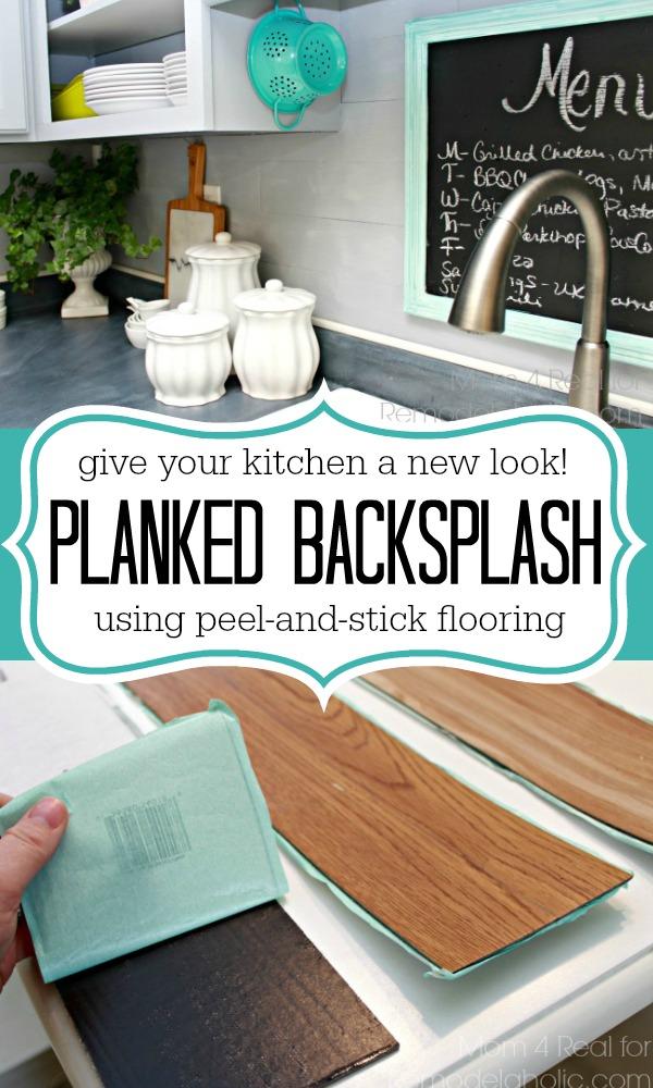 inexpensive backsplash idea faux