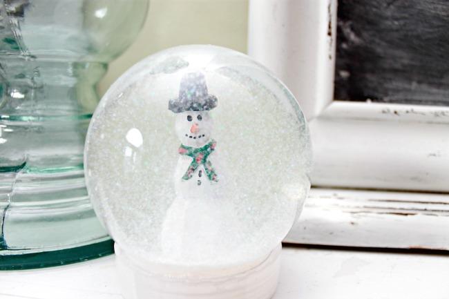 homemade snow globe ornaments