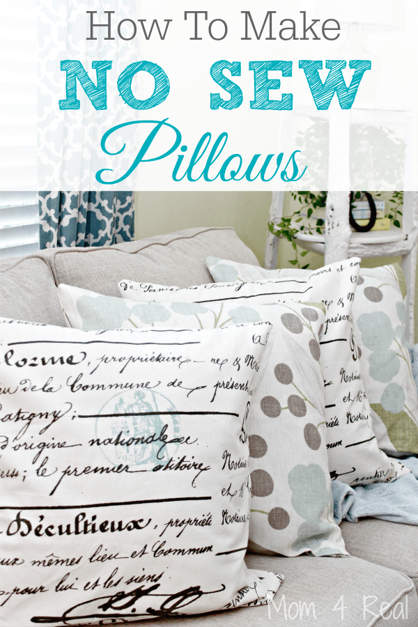 how to make no sew pillows mom 4 real