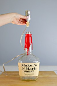 How to Make a Bourbon Bottle Lamp - Mom 4 Real