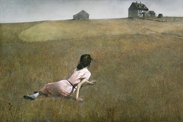 Andrew Wyeth, <i>Christina's World</i> (1948). The Museum of Modern Art, New York.  Purchase. © 2012 Andrew Wyeth