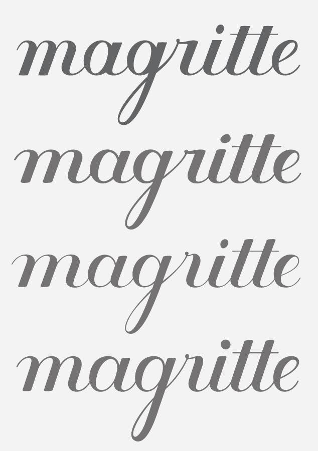 MoMA Lettering Magritte