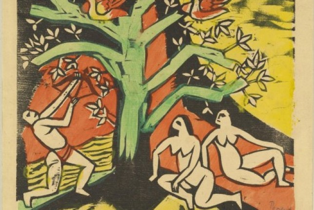 Max Pechstein Killing of the Banquet Roast 1912 primitivism