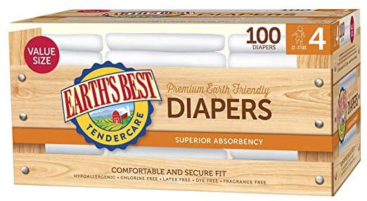 Earth's best chlorine free diapers