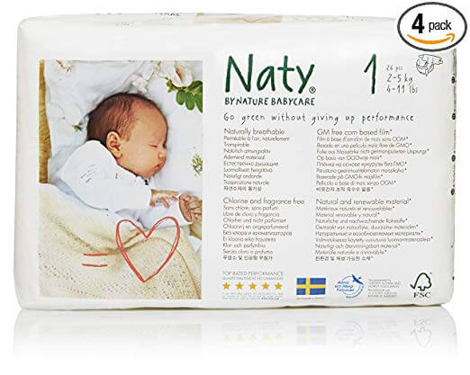 Naty nature biodegradable diapers