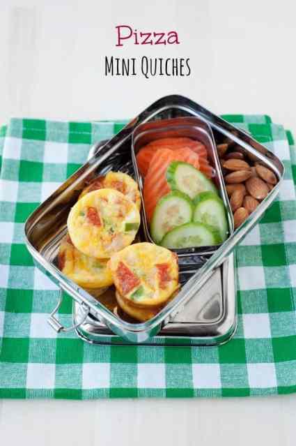 pizza mini quiches school lunch