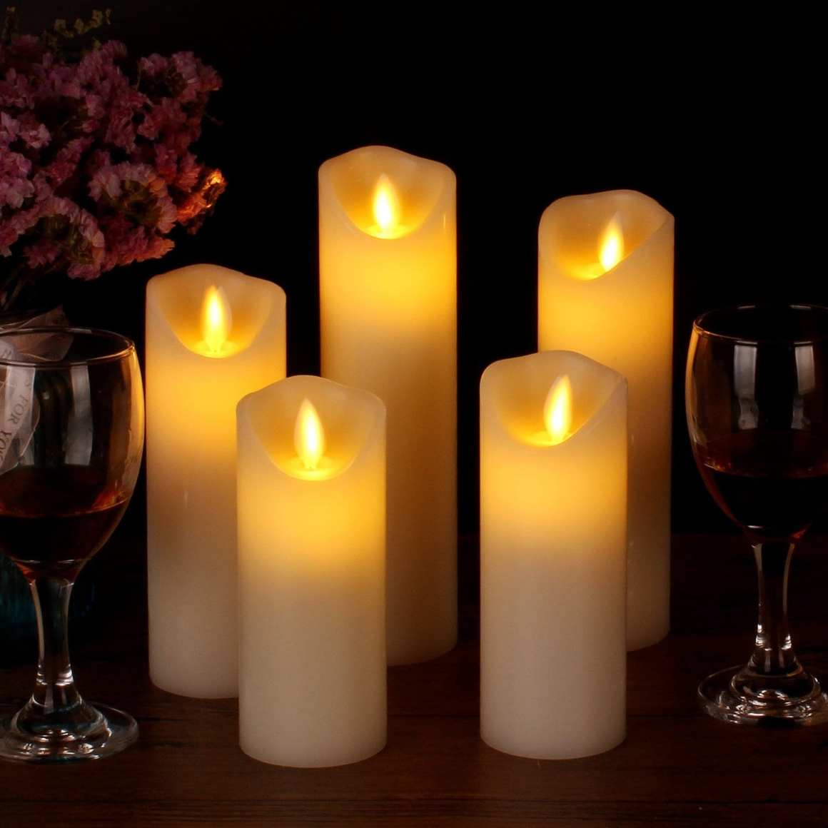 cozy home flameless candles