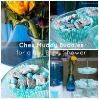 Chex Muddy Buddies Recipe for a Baby Shower (Pink & Blue)