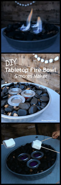 DIY Tabletop Fire Bowl Perfect for Making S'mores!