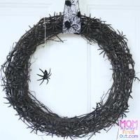 Easy DIY Halloween Wreaths | Spider Wreath - Mom Always ...