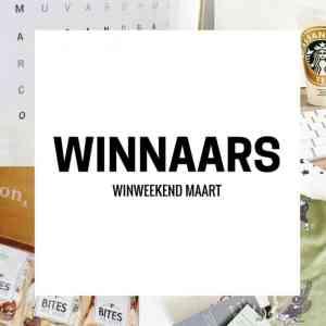 Winweekend Maart | En de winnaars zijn…….