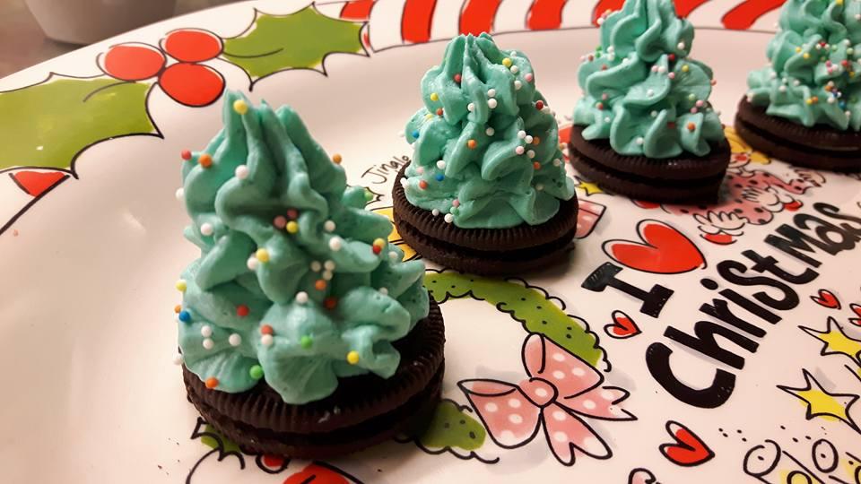 kerstboom traktatie kerstboompjes met oreo recept
