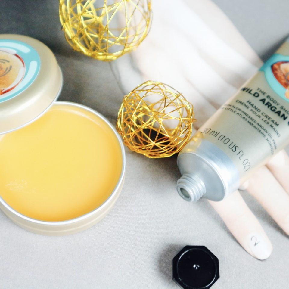 The Body Shop Wild Argan Oil Handcream lip oil