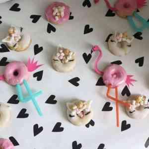 Unicorn donuts en Flamingo Donuts maken momambition bakken leukstetaartenshop mamablog