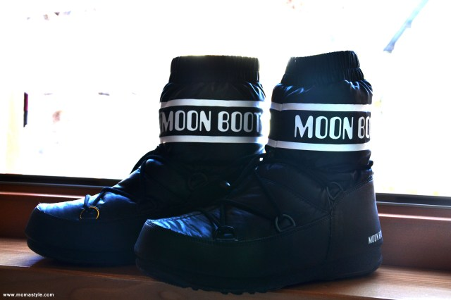 Moon Boot neri bassi