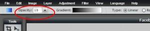 Pixlr tutorial: gradient opacity