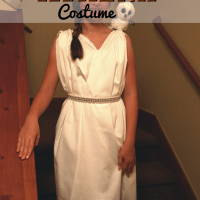 Easy and fast DIY Athena Costume your girl will love!