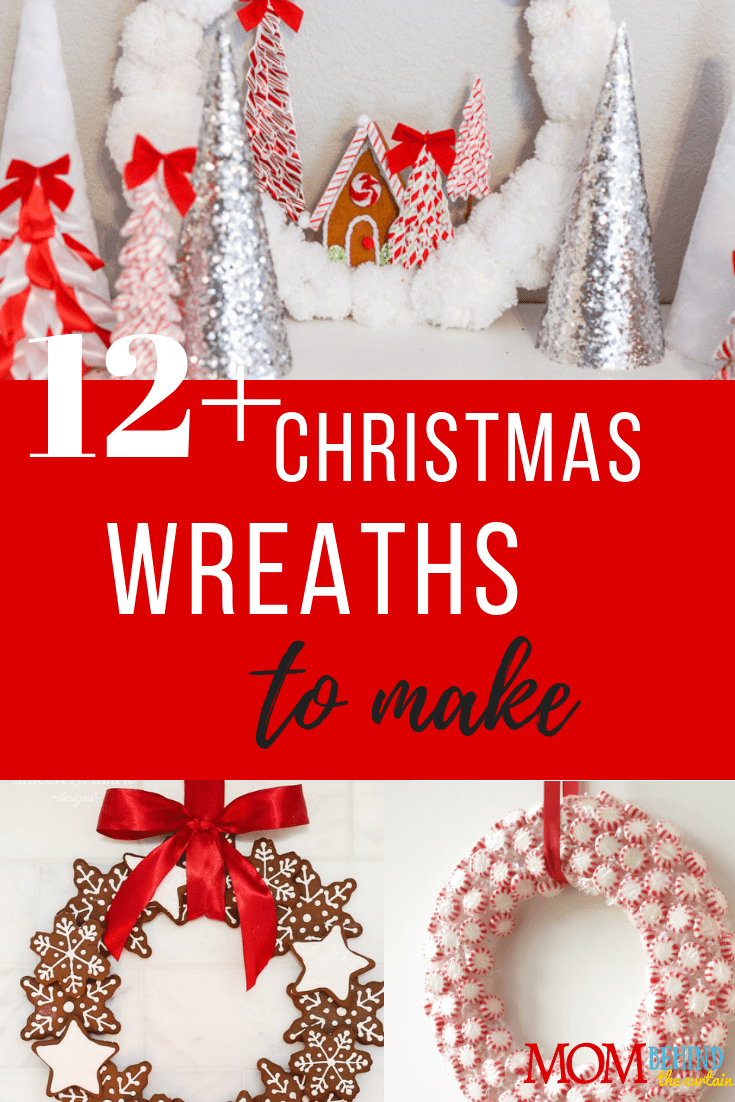 12+ of my favorite Christmas wreath tutorials - Learn how to make wreaths to decorate your home, everywhere from your front door to your kitchen! These wreaths use everything from fresh evergreens to puzzle pieces (a genius way to save money when you make your wreath. You gotta see it!) and everything in between. Click over to get some fabulous ideas and craft some Christmas memories.