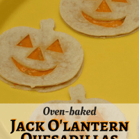 Jack O'Lantern Quesadillas - fun ideas for Halloween party food