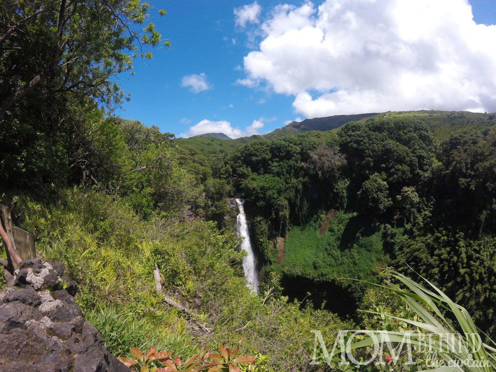 Makahiku Falls on the Pipiwai trail off the road to Hana.
