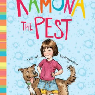 Cover of book for 1st grade girls - Ramona the Pest, girl with dog