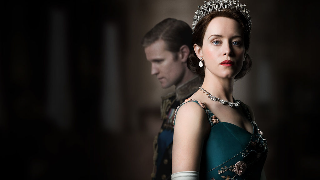 Claire Foy and Matt Smith as Queen Elizabeth II and Prince Phillip in Netflix The Crown
