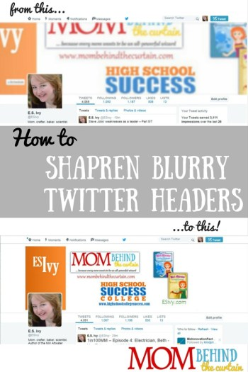 Sharpen Blurry Twitter Header Photos Further - Optimize your Twitter Header Photo Size
