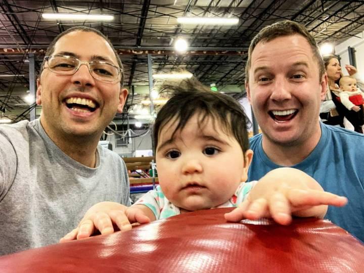 Derek Mize, Jonathan Gregg, and daughter Simone Mize-Gregg. Photo credit: Lambda Legal