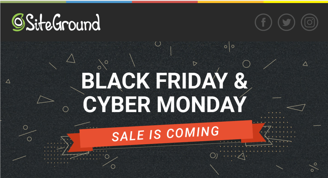 SiteGround Black Friday Sale 2018 - mom blog from home