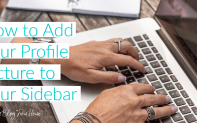 How to Add Your Profile Picture to Your Sidebar